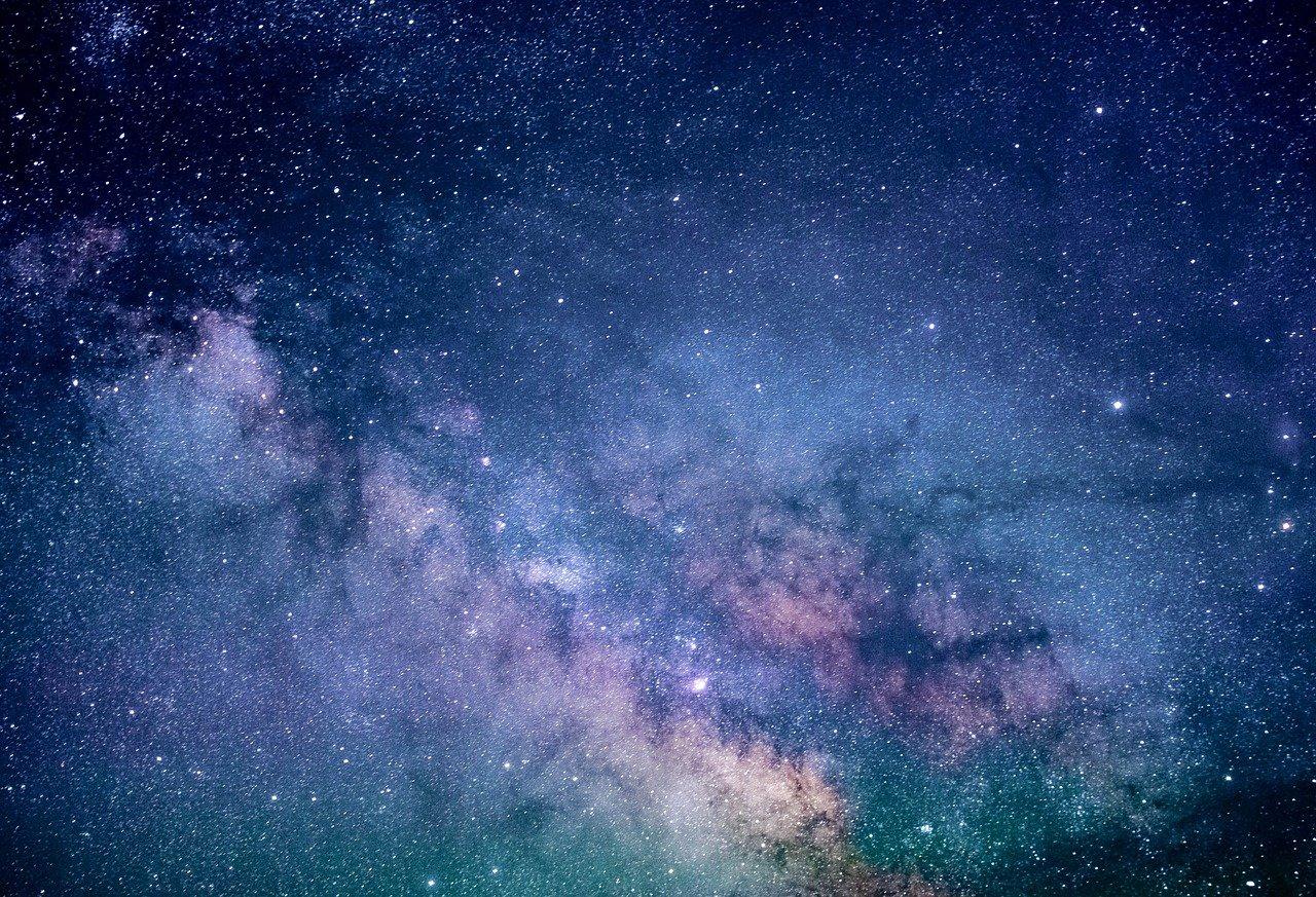 Obraz na płótnie natura. Obraz gwiazdy nocą. Droga mleczna canvas